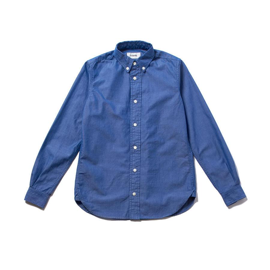 ダンガリークロスボタンダウンシャツ サックスブルー
