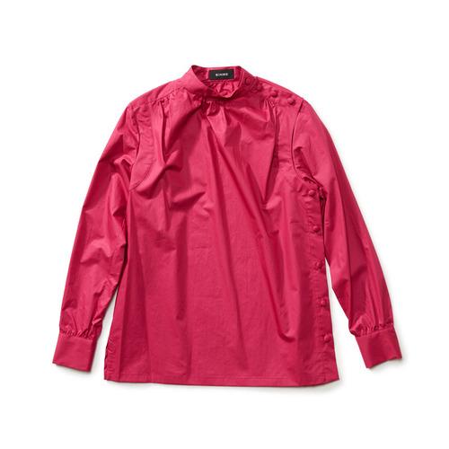 スタンドカラーシャツ ピンク