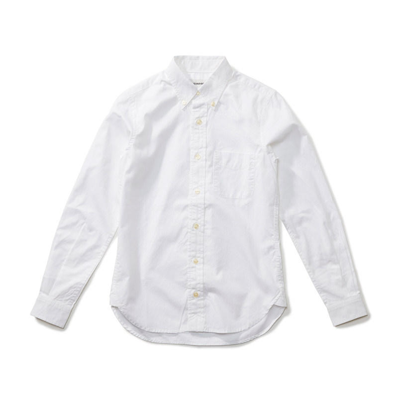オックスフォードボタンダウンシャツ ホワイト