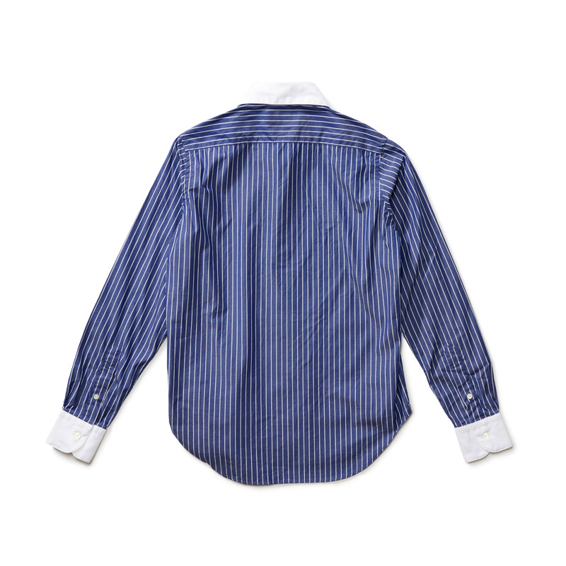 クレリックシャツ ストライプ