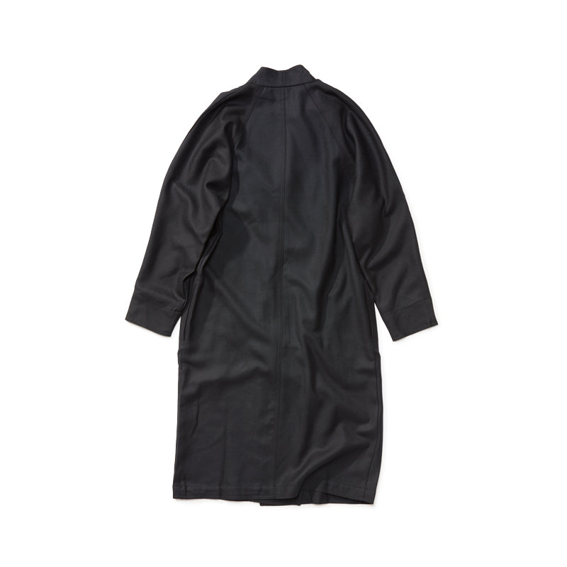 Vネックコート ブラック