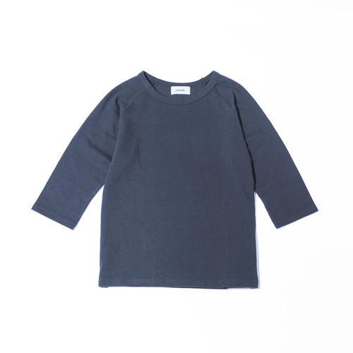 七分袖カットソー ブルー