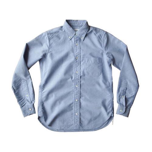 オックスフォードボタンダウンシャツ サックスブルー