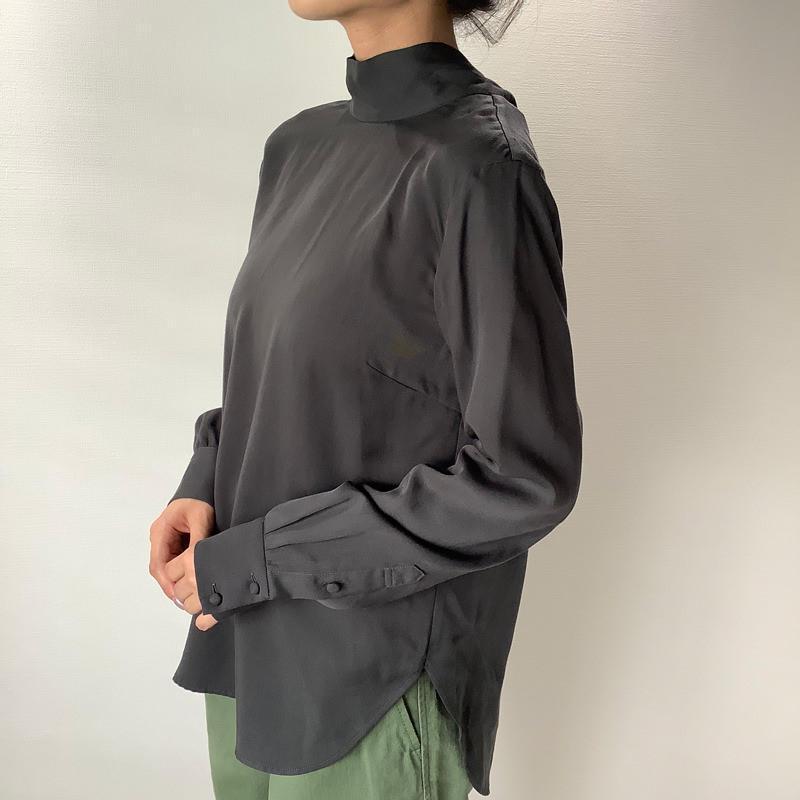 タイカラーシャツ ブラック