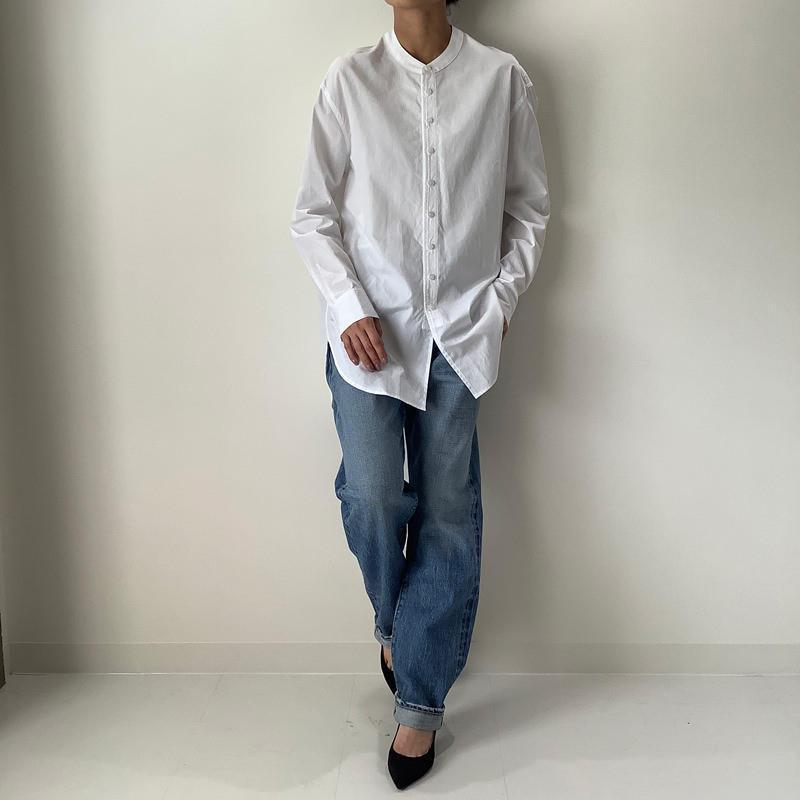 スタンドカラーシャツ ホワイト