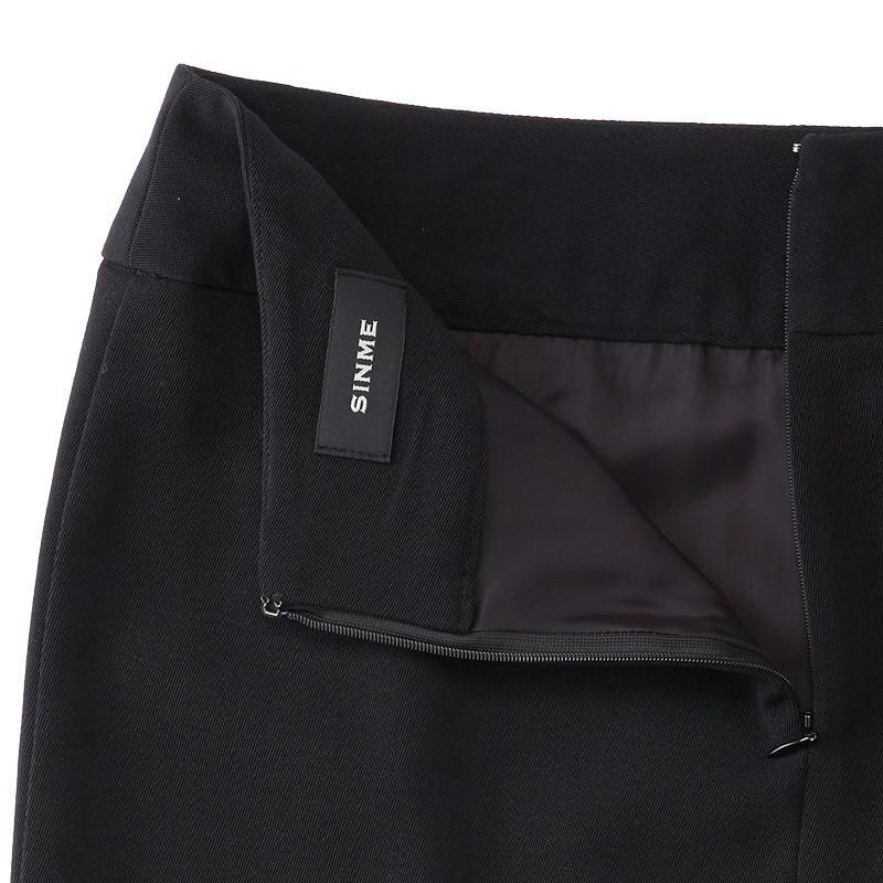 スリットスカート ブラック