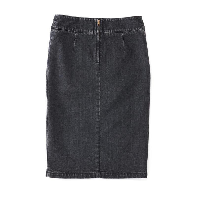スリットスカート ブラックデニム