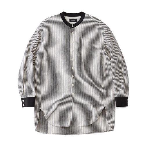 スタンドカラーシャツ ストライプ