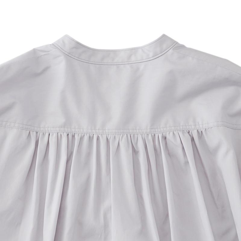 ボリュームシャツ ブルーグレー
