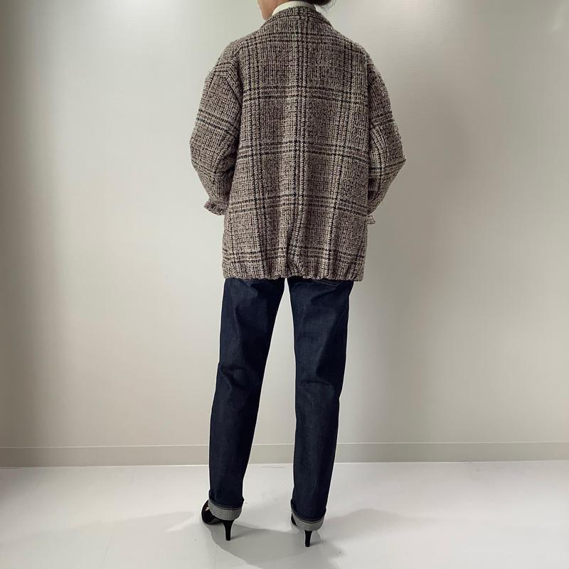 パデッドジャケット ブラック×ピンクライン