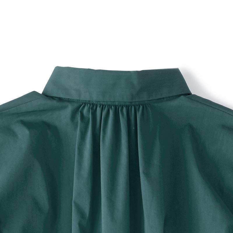 ロングシャツワンピース グリーン