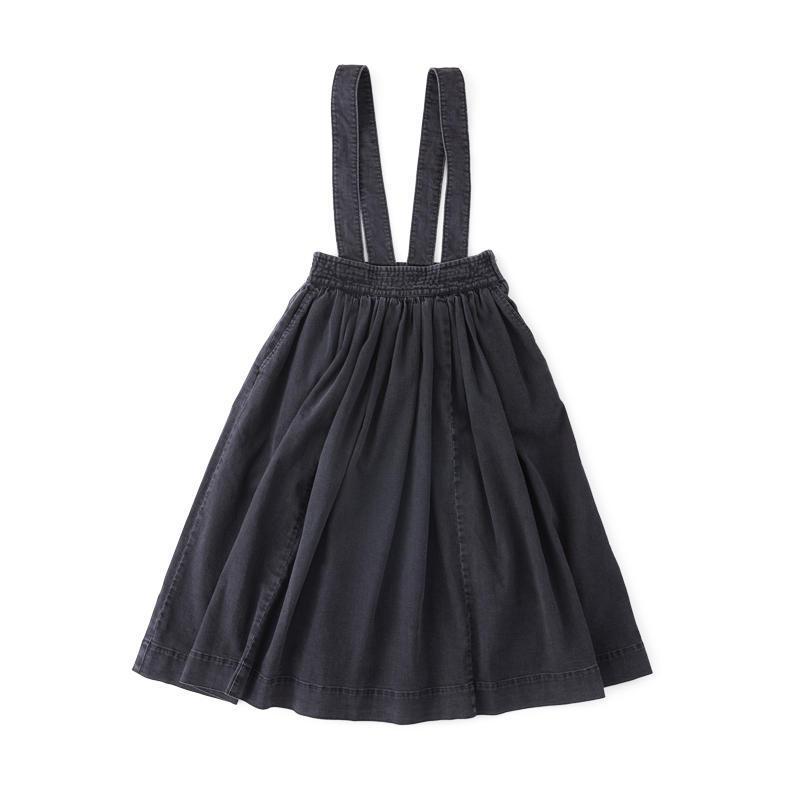 デニムジャンパースカート ブラック