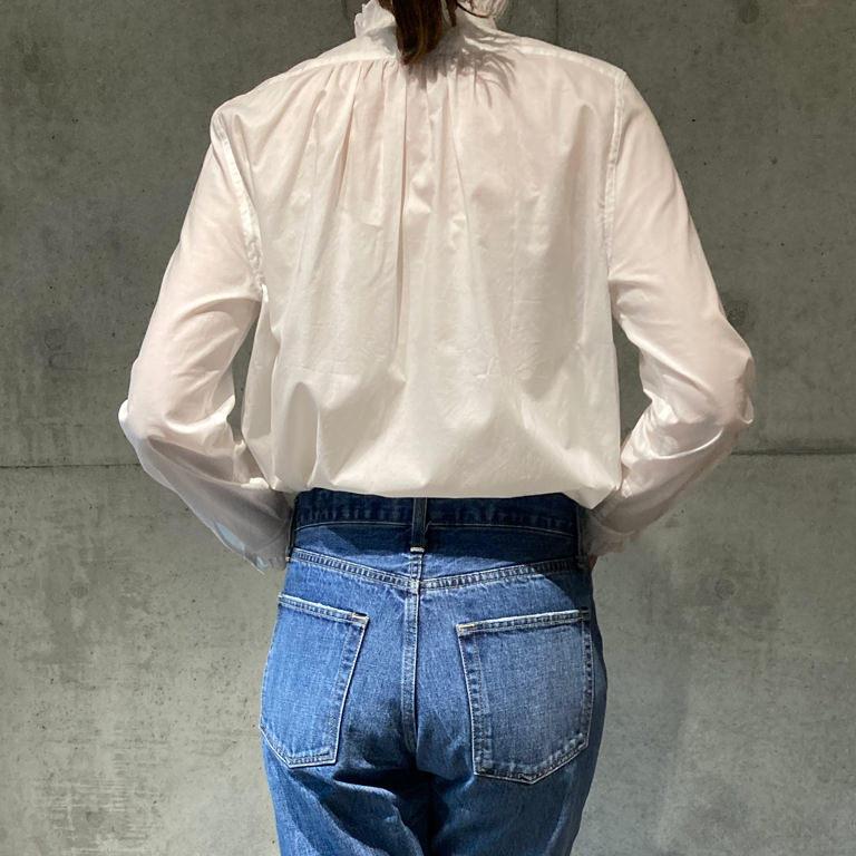 スカラエンブロイダリーシャツ ホワイト×ホワイト