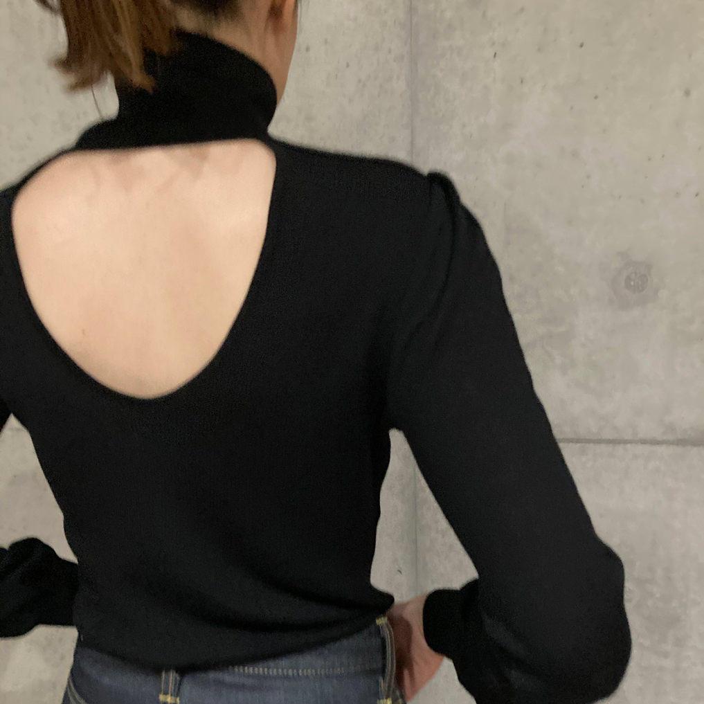 BOタートルネックセーター ブラック